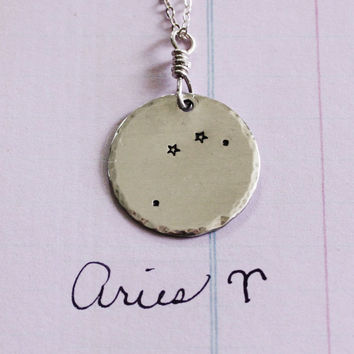 Aries Constellation Necklace, sterling silver, aries necklace, constellation necklace, star necklace, aries, astrology gift necklace