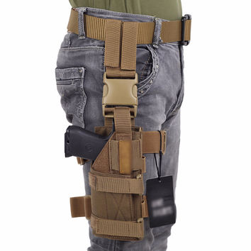Drop Leg Platform & Handgun Pistol Holster Right Handed Holster