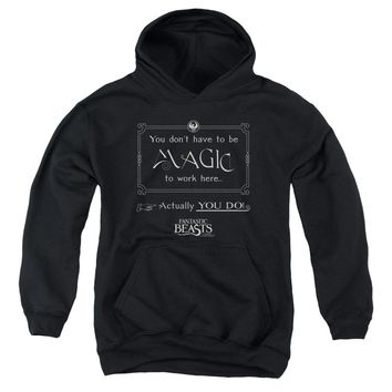 Fantastic Beasts - Magic To Work Here Youth Pull Over Hoodie