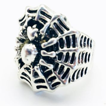 Spider and Web Fashion Ring Size 8