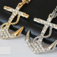 Pacific Bliss Anchor Necklace