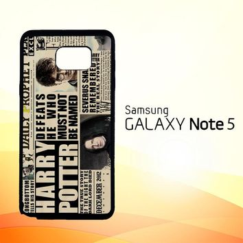 december2012 harry potter daily prophet F0163  Samsung Galaxy Note 5 Case