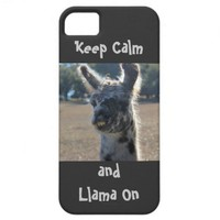 Keep Calm and Llama On, iPhone Case from Zazzle.com