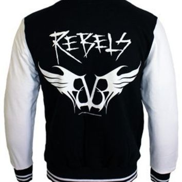 Black Veil Brides Rebels Baseball Varsity Jacket - Offical Band Merch - Buy Online at Grindstore.com