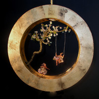 "Handmade Ceiling Light.Ceiling Lamp.""Circle Dream"""