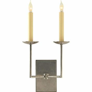 Visual Comfort and Company SL2866AN Antique Nickel Ra Double Wall Light