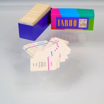 Vintage 1989 Milton Bradley TABOO Board Game Replacement Parts REFILL Cards Lot