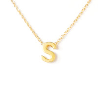 Petite Gold Initial Charm Necklace