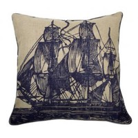 Thomas Paul Seafarer Sail Jute Pillow 22x22