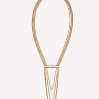 bebe Womens Logo Bar Chain Necklace
