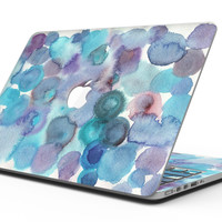 Blue 62 Absorbed Watercolor Texture - MacBook Pro with Retina Display Full-Coverage Skin Kit