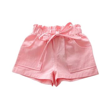 Candy Color Baby Boys Shorts 2017 Children Summer Kids Short Pants For Girls Clothes Toddler Shorts Casual Clothing 2-6 Years