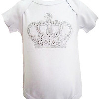 Designer Infant short sleeve Onesuit with 3button bottom snap