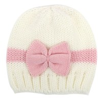 Infant Baby Girls Hat Toddlers Winter Cotton Bowknot Knitted Cap Lovely Warm Hats