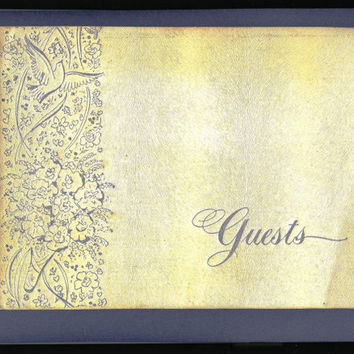 Wedding Guest Book from the 1950's, Vintage, Junk Journal, Smash Book, Altered Arts, DIY