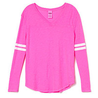 Slouchy V-neck Tee - PINK - Victoria's Secret