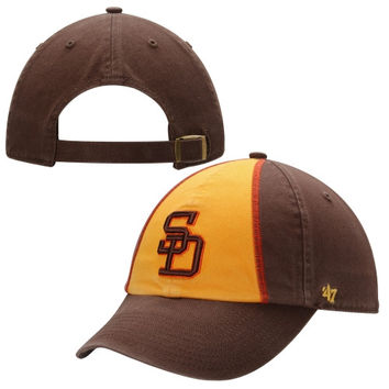 San Diego Padres '47 Brand Cooperstown Collection Basic Logo Cleanup Adjustable Hat - Brown