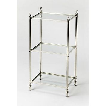 Butler Dorie Polished Nickel Accent Table
