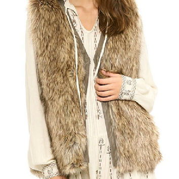 Fake Fur Vest - Hobo - Jackets - Jackets & Outerwear - Women - Modekungen