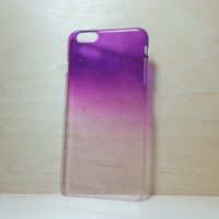 3D Water Droplets Hard Plastic Case for iPhone 6 Plus (5.5 inches) - Purple