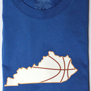 Screen Print Basketball tshirt in the State and Color of Your Choice - Basketball Shirt