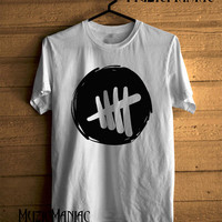 5 Seconds Of Summer Shirt New 5SOS Logo T-shirt Black And White Printed Unisex Size - NK6