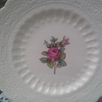 "Vintage Spode's ""Billingsley Rose"" Side Plate, 6"", Spode Jewel Copeland Spode, Red/Pink Transferware,  Spode,  Rose, English Transferware"