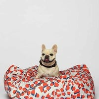Love Thy Beast Dog Bed- Red Multi Small