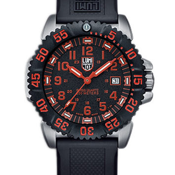 Luminox Mens Steel Colormark - Black & Red Dial  - Rubber Strap - Retired