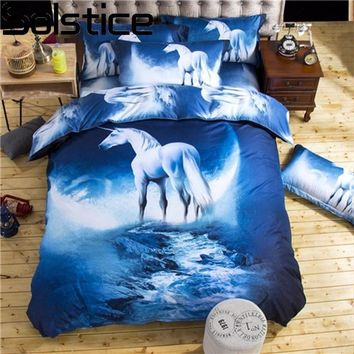 Solstice Home Textile Cool 3D Universe Magic Style 7 Patterns Bedclothes Bed Linen Printing Bedding Sets Single/Queen Size