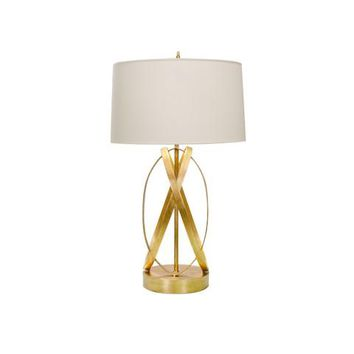 Worlds Away Cleo Gold Leafed Table Lamp
