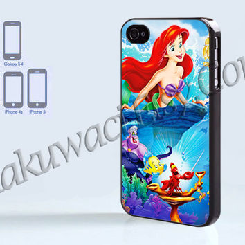 Ariel The Little Mermaid  - iPhone 4 case - iPhone 4S case - Samsung Galaxy S3/S4 - iPhone case - Hard Plastic - Case Soft Rubber Case