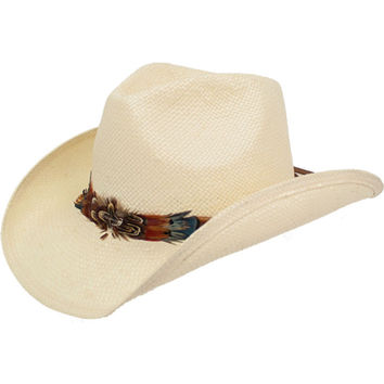 Peter Grimm Women's Ivory Mendi Cowgirl Hat