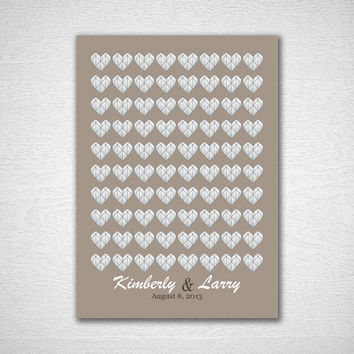 Alternative Guest Book Wedding Guest Book Tree Wedding Guestbook Poster Heart Print Wedding Guest Book Print for 80 Guest Wedding Poster