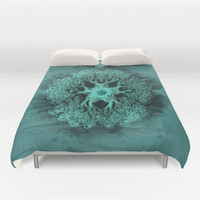 Psychedelic Ink Octopus Duvet Cover by Voodoo