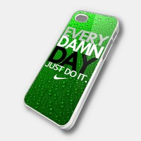 every damn day waterdrop green mint color case - iPhone 4 Case, iPhone 4s Case and iPhone 5 case Hard Plastic Case
