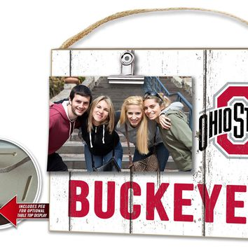 """Ohio State Buckeyes Memory Maker """"Clip It"""" Wood Wall Hanging"""
