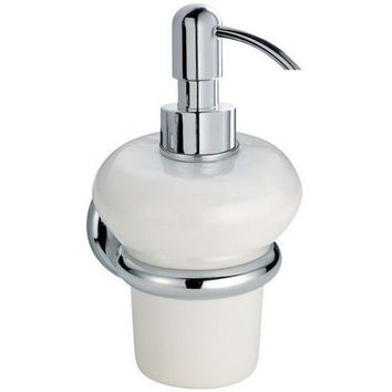 BA Shire Wall Mounted Ceramic Pump Soap Lotion Dispenser Bath or Kitchen - Brass