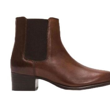 ICIKAB3 Frye Dara Chelsea Whiskey Short Leather Boots