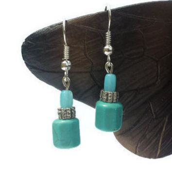 Turquoise Handmade Bead Dangle Drop Earrings Jewelry Women Gifts Crystal Beads Gifts for Women Gifts for Her Fashion Earrings Boho Earrings