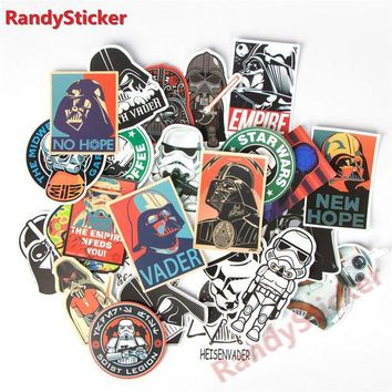 DCCKU7Q 25 kinds Star War waterproof creative sticker for Skateboard Laptop Luggage Phone Styling home Toy Sticker
