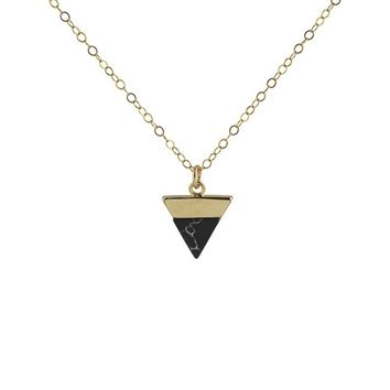 Triangle Marble Howlite Necklace