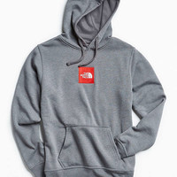 The North Face Embroidered Box Logo Hoodie Sweatshirt   Urban Outfitters