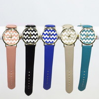 Ashville Blue Chevron Case Watch