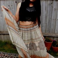 Vintage Bohemian Maxi skirt (indian print) from LOVESTONEDPIECESS