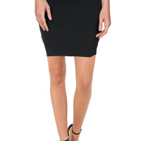 Bodycon Above Knee Mini Pencil Skirt for Women Short Cotton Stretchy Mini Skirt
