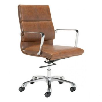 ZUO Modern Ithaca 100770 Office Chair Vintage Brown