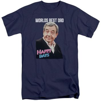 Happy Days - Best Dad Short Sleeve Adult Tall