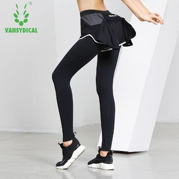 Vansydical Women Yoga Leggings Running Leggings Back Pocket Sportswear Workout Jogging Yoga Breathable Fitness Running Shorts
