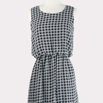 Urial Windowpane Dress